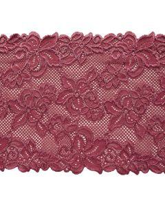 Elastische Spitze in mauve - 18cm breit