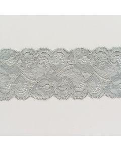 Elastische Spitze, perlgrau, 6.5cm breit