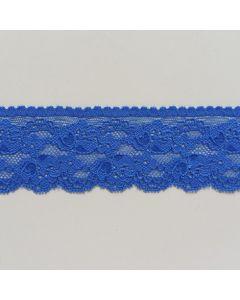 Elastische Spitze, königsblau, 5cm breit