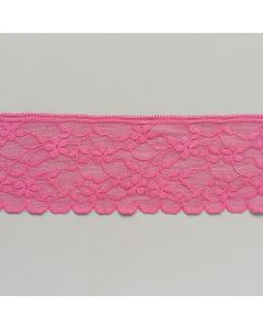 Elastische Spitze, rosa, 7cm breit