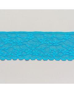 Elastische Spitze, türkis, 7cm breit