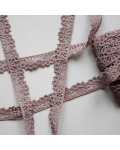 Elastische Spitze in taupe, 11mm breit in 5m-Budgetpackung für Bekleidung, Unterwäsche und Deko.