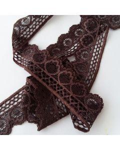 Elastische Spitze, dunkler Mokkabraun, 3.5cm breit