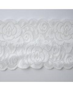 Elastische Antirutsch-Spitze in ivory - silikonbeschichtet - 9.5cm breit