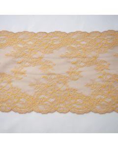 Elastische Spitze in ocker-beige - 17cm breit - für Unterwäsche und Damenbekleidung
