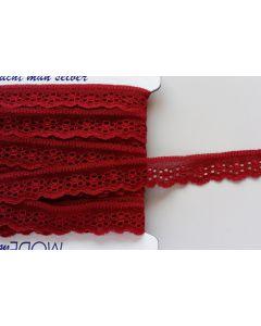 Spitzenband, 27mm breit, dunkelrot, 1m