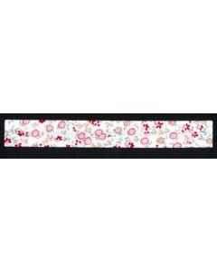 Schrägband, bedruckt, mit Blumen