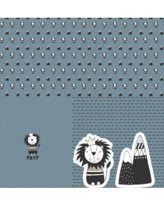 Jersey Stoff Panel - Löwe - für Babies