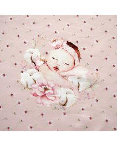 Jersey Stoff Panel mit süssem Baby-Motiv