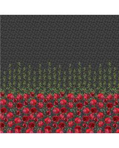 Jersey Stoff 'Rose' mit Rosenmotiv  - extra grosses Panel (2m!)