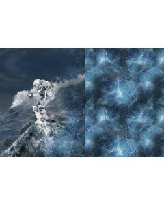 Jersey Stoff Panel mit Astronaut-Motiv
