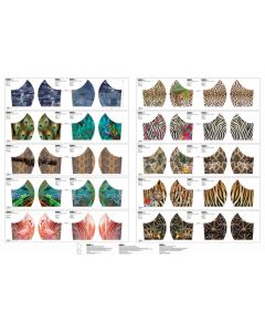 Baumwollstoff Panel fürs Masken-Nähen mit Tiermuster