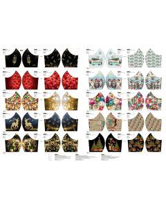 Maskenstoff-Panel aus Baumwolle 'Weihnacht + Neujahr' 100x150cm