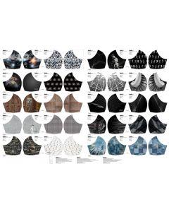 Maskenstoff-Panel aus Baumwolle 'Abstrakt' 100x150cm
