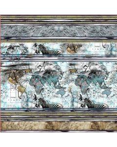 Jersey Stoff Panel 'Atlas' 150x150cm