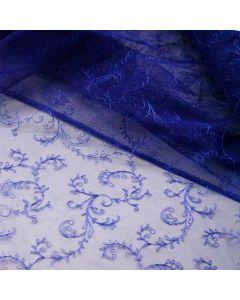Tüllstickerei-Spitze in königsblau