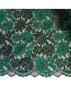Spitze, nicht elastisch, smaragdgrün-schwarz