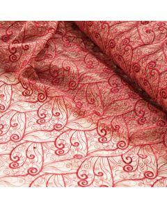 Tüllstickerei-Spitze in rubinrot