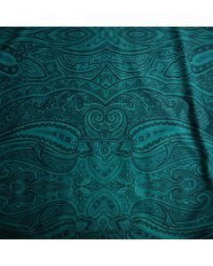 Weicher, bielastischer Badelycra - Lycra Stoff in einer wunderschönen grüntürkis/smaragdgrün Farbe mit ausgefallener Musterung füd Bademode, Kürkleider, Tanzkleider.