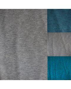 Melange Unterwäschestoff - Funktionsstoff in grau, grün und türkis für Unterwäsche und Funktionsbekleidung - bielastische, 170 g/m2 schwere Meterware.