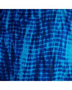 Lycra - Badelycra Stoff mit Batikmuster in diversen Blautönen für Bademode, für Tanz- und Kürkleider