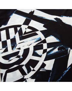 Lycra, schwarz-weiss mit hellblauen Highlights, Panel