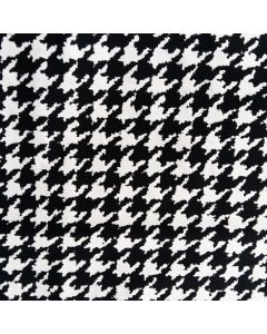 Badelycra / Lycra Stoff mit Vichymuster in schwarz-weiss