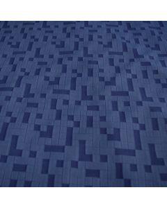 Funktionsstoff - Unterwäsche Lycra Stoff in dunkelblau mit Tetris-Muster.