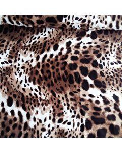 Lycra, Badelycra Stoff mit Leopardenmuster