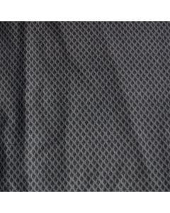 Mittelschwerer Lycra Stoff in dunkelgrau mit Rautenmuster für Bademode (Badeanzug, Tankini, Bikini).