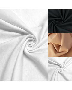 Shapewear-Stoff für figurformende Unterwäsche in schwarz, weiss und hautfarbe - 75cm breite Meterware mit Baumwolle