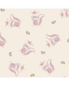 French Terry Stoff mit Drachenmädchen-Muster von Emmapünktchen