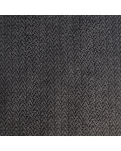 Weicher, schwerer Punta di Roma Stoff in grau mit lässigem Zopfmuster für Damenbekleidung.