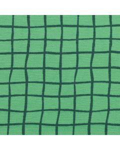 Weicher, bielastischer Jersey Stoff in fröhlichem mintgrün mit feinem Kachelmuster - der Stoff ist perfekt für Bekleidung und Unterwäsche.