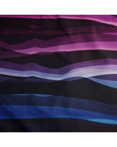 Softshell Stoff 'Wavy Stripes'  von lyckling Design in fuchsia-blau
