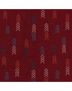 Lässig leichter Viskose-Modal Stoff in bordeaux-rot mit feinen, kleinen Blumenmotiven in schwarz - für luftige Sommerkleider, Hosen und Blusen.