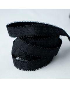 BH-Trägergummi/Trägerband in schwarz. 13mm breit, 4m