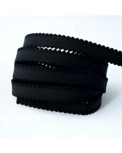 Trägergummi / Trägerband in schwarz, 11mm breit, 4m