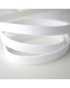 Elastisches Trägerband in matt weiss für BHs und Dessous - 12mm breit.