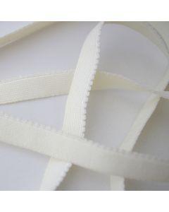 BH-Unterbrustgummi in ecru - 12mm breit