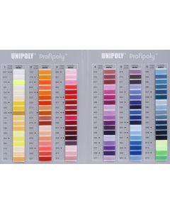 Farbkarte für Hagal-Allzwecknähgarn und Bauschgarn