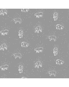 Sweat Stoff mit Eisbär-Motiv in grau