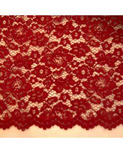 Elastische Spitze in dunkelrot - 145cm breite Meterware für festliche Kleider, Blusen oder Deko.
