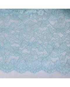 Elastische Spitze in Aquamarine - 145cm breite Meterware für festliche Kleider, Blusen oder Deko.