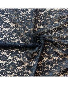 Elastische Spitze in schwarz - 145cm breit
