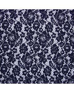 Elastische Spitze in dunkelblau - 145cm breit