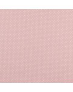 Getupfter Popeline Stoff in hellrosa aus 100% Baumwolle mit weissen Pünktchen für Kinder- und Damenbekleidung oder Deko.