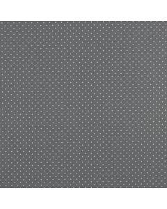 Getupfter Baumwolle Popeline Stoff in grau mit weissen Pünktchen