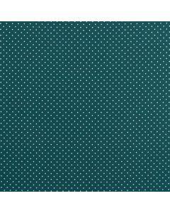 Getupfter Popeline Stoff in jägergrün aus 100% Baumwolle mit weissen Pünktchen für Kinder- und Damenbekleidung oder Deko.
