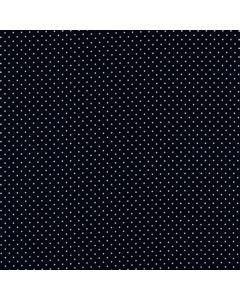 Getupfter Baumwolle Popeline Stoff in dunkelblau mit weissen Pünktchen